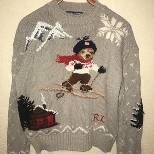 Ralph Lauren vintage Polo bear ski lodge sweater